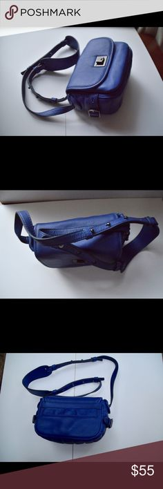 "NWOT J. Crew cross body bag NWOT J. Crew cross body bag Measures 8"" x 6"" shoulder drop 18"" Genuine leather. Metallic hardware. Adjustable shoulder strap. Two compartments. One pocket inside. Back phone snap pocket. In like new condition! Beautiful bag in royal blue color.. J. Crew Bags Crossbody Bags"