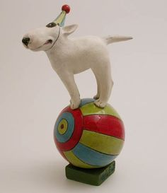 Marie Prett :: circus dog balancing on a ball...!