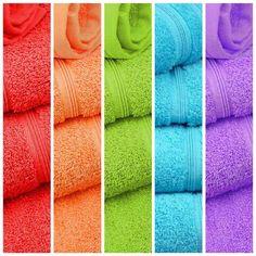 Arcoiris de toallas