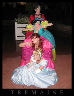 Never seen Cinderella do this at WDW ... but I have met those stepsisters several times in person