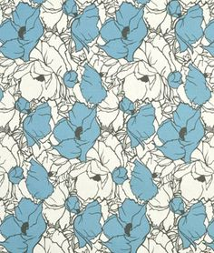 Premier Prints Cottage Silhouette Blue/Natural fabric, $7.40/yd  {would make a cute Roman shade in upstairs bathroom}