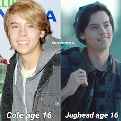 What look do you prefer? . . . . Actually Jughead was 15 in that picture I think Cole was 16 8 years ago WTF . . . #riverdale #colesprouse…