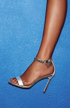 Stunning shoe for the bride | Manolo Blahnik 'Chaos Chain' Sandal 2014 #Manolos #Shoes