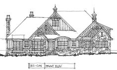 Conceptual Design #1411 - House Plans on the Drawing Board