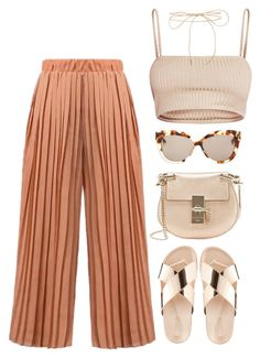 A fashion look from July 2017 featuring crop tops, brown pants and platform sandals. Browse and shop related looks. Teen Fashion Outfits, Swag Outfits, Love Fashion, Korean Fashion, Simple Outfits, Classy Outfits, Stylish Outfits, Summer Outfits, Aesthetic Fashion