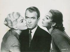 Portrait of Kim Novak, James Stewart and Kim Novak for Vertigo directed by Alfred Hitchcock, 1958