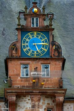 View top-quality stock photos of Gabel With A Clock Renaissance Tower Historic Town Hall Market Square Historic Centre Marburg Hesse Germany. Find premium, high-resolution stock photography at Getty Images. Unusual Clocks, Tower Clock, Gabel, Architecture Details, Vintage Architecture, Beautiful Architecture, Town Hall, Clock Town, Time Time