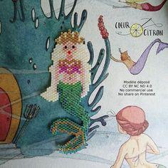 La maman sirène qu'on ne voit jamais dans la petite sirène ☺ #mermaid #sirene #jenfiledesperlesetjassume #perlesaddict #perlesaddictanonymes #jesuisunesquaw #diy #handmade #brickstitch #motifcoeurcitron #perlesandco #perlescorner #perlezmoi #brickstitch