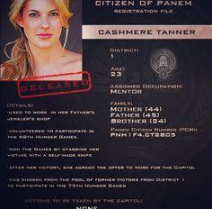 Citizen of Panem Registration File : Cashmere Tanner