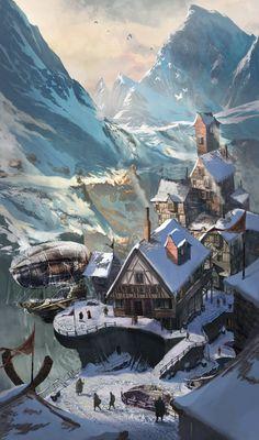Welcome to Kuldahar, Andrii Shafetov on ArtStation at https://www.artstation.com/artwork/welcome-to-kuldahar