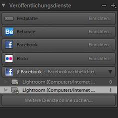 Lightroom-Quickie: Mit Lightroom auch zu Facebook Seiten exportieren