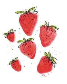 Rain Art, Fruit Illustration, Tropical Art, Mural Art, Cute Drawings, Art Inspo, Art Lessons, Retro, Watercolor Art