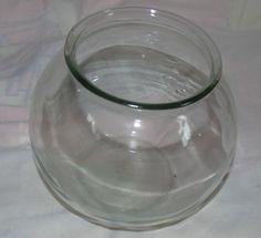 Vintage Gold Fish Bowl Glass | eBay