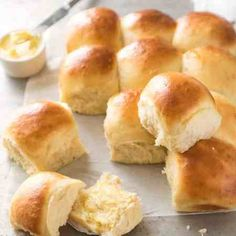 No Knead Dinner Rolls. No stand mixer no knead no special equipment required. These dinner rolls are soft fluffy and effortless to make! Recipetin Eats, Stuffed Mushrooms, Stuffed Peppers, Baked Chicken, Roast Chicken, Cashew Chicken, Greek Chicken, Italian Chicken, Chicken Tacos