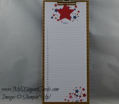 Perpetual birthday calendar - July - My Elegant Cards - Liz Bailey - Stampin' Up! Occasions 2015