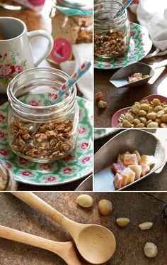 Homemade Tropical Granola Recipe on FamilyFreshCooking.com | © MarlaMeridith.com