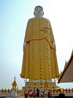 Laykyun Setkyar, Monywa, Myanmar (Burma) is the second tallest statue in the world at 381 feet with a total monument height of 427 feet.