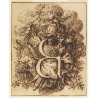 Ornamental Design for the Letter B, Gilles-Marie Oppenord, ca. 1720