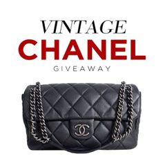VINTAGE CHANEL GIVEAWAY happening NOW on my Blog!!!! http://hollyannaeree.com (Open Internationally!)