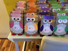 OWL BIRTHDAY PARTY THANKS BAGS!