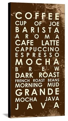 LOVE This Chocolate Coffee Subway Sign For The Kitchen