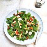 Spinazie+salade+met+geitenkaas+