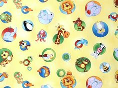 Red Rooster Fabrics - Kathy Brown 'A Is For Animal' ki-012-07-5050