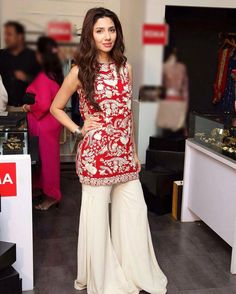 Mahira Khan in Mahgul sharara suit.