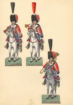 Jumping Jacks, Strasbourg, Soldiers, Watercolor, French, Paper, Napoleonic Wars, Military, Miniatures