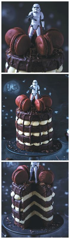 Kostenloses Rezept: Galaktische Star Wars Stormtrooper Torte backen / free recipe: best star wars stormtrooper layer cake ever via DaWanda.com