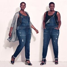 Torrid Destructed Denim Overalls Medium Wash Great Condition love these Torrid Jeans Overalls Tomboy Fashion, Curvy Fashion, Plus Size Fashion, Fashion Beauty, Tomboy Style, Denim Romper, Denim Overalls, Jeans, Plus Size Jumpsuit