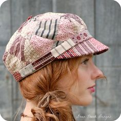 Patchwork Quilt Newsboy Hat by GreenTrunkDesigns on Etsy, $48.00