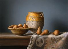 A gallery of still life paintings by New Zealand artist Neil Driver. Pot Still, Antique Stoneware, Apple My, Fruit Art, French Antiques, Still Life, Serving Bowls, Decorative Bowls, Pottery