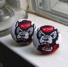 NC State Wolfpack Earrings.