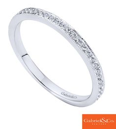 Diamonds on diamonds on diamonds! This gorgeous 14k White Gold Diamond Stackable Ring by Gabriel & Co. is the perfect piece to add to your everyday outfit. This stackable ring filled with diamonds is absolutely beautiful and is a great add to any finger stack.