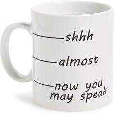 Barbuzzo 'Shhh' Ceramic Mug