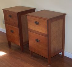 Made to order solid wood nightstands (i would change out handles)