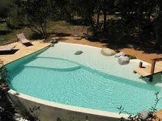 Resultado de imagen para piscine avec plage