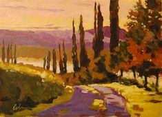 "Daily Paintworks - ""Study for Tuscany"" - Original Fine Art for Sale - © Cornelis vanSpronsen"