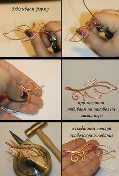 leaf picture tute ~ Wire Jewelry Tutorials