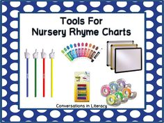 Tools to use with nursery rhyme charts when teaching reading skills