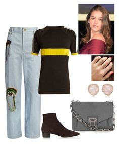 """""""TDG #18"""" by tynabrookler ❤ liked on Polyvore featuring Wales Bonner, The Row, Proenza Schouler and Monica Vinader"""