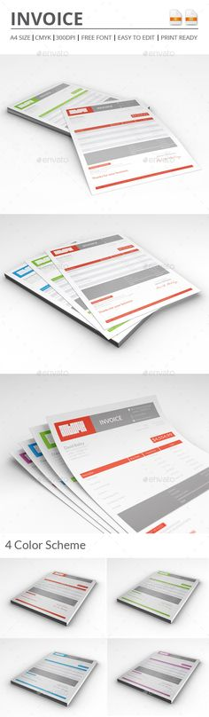 Clean Business Invoice Template Business proposal - invoice for business
