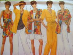 BUTTERICK SEWING PATTERN - 3505 - MISSES 12,14,16 TOP PANTS SHORTS