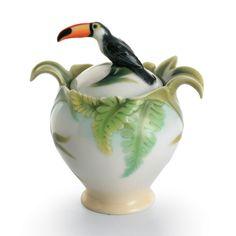 franz paradise calls toucan sugar jar