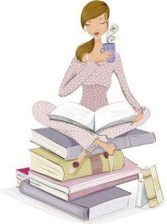 Femme - Lecture - Café ou Thé - Livre / Woman - Reading - Coffee or Tea - Book Reading Art, Woman Reading, I Love Reading, Reading Posters, Speed Reading, Reading Books, I Love Books, Books To Read, My Books