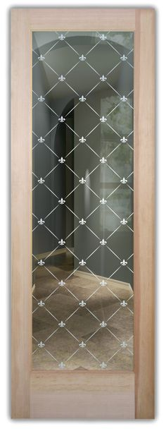 Shop our glass entry doors. Customize your glass doors with a wide variety of quality designs to fit any decor. Start exploring your glass doors options now! Exterior Doors With Glass, Entry Doors With Glass, Glass Doors, Etched Glass Door, Glass Etching, Art Deco Borders, Cast Glass, Window Glass, Winter Trees
