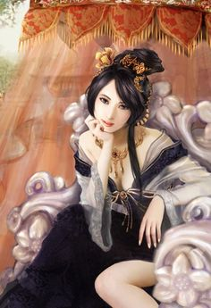 160_cm采集到古风 (未抠)(2425图)_花瓣美女 Chinese Painting, Chinese Art, Chinese Culture, Oriental, Fantasy Art Women, Female Character Inspiration, L5r, Fantasy Dress, Pin Up Girls