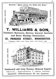 1909 T Williams advert
