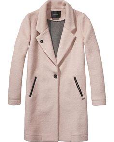 Klassieke getailleerde jas - Maison Scotch #coat #pink #denimplus www.denimplus.com
